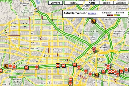 Google Maps Staumelder
