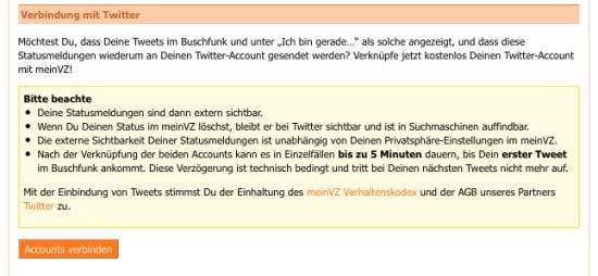 StudiVZ und Twitter